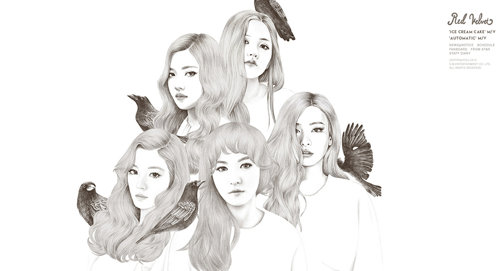 레드벨벳 1st 미니앨범 'Icecream Cake' 커버 및 내지 일러스트 / SM Entertainment