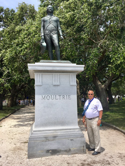 SC Second Regiment Salute at Sgt. Jasper Monument and Col. Moultrie Monument with SRSC President Iva