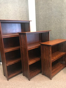 Mission Slated Bookcases