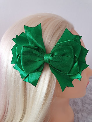 Large Green Hair Bow