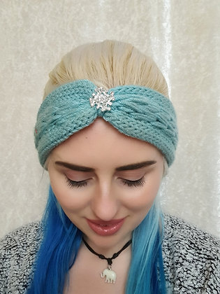 Frosted Plaited Knitted Ear Warmer
