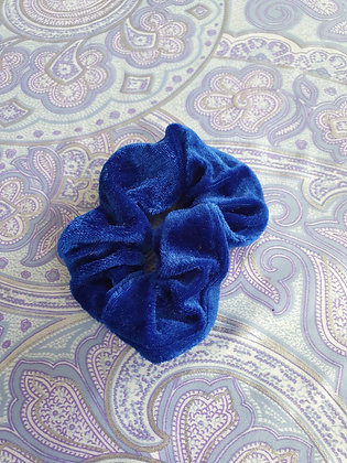 Hand Made Scrunchie - Royal Blue Velvet
