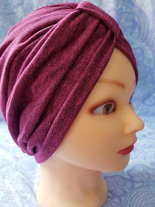 Dark Pink Chemo Cap Turban