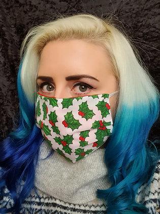Christmas Holly Face Mask