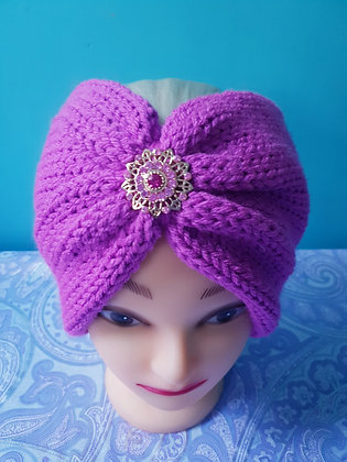Magenta Double Width Knitted Head Band