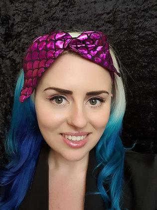 Pinky Purple Mermaid Wired Hair Tie