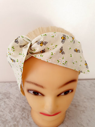 Bumble Bee Cream Wired Hair Ties