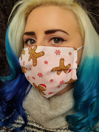 Gingerbread Christmas Face Mask