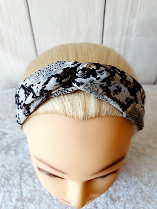 Grey Snake Elasticated Head Band