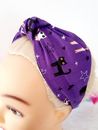 Cats on Purple Head Band