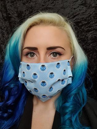 Blue Ladybirds Face Mask