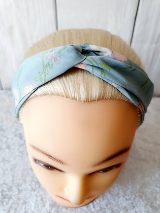 Light Blue Bloom Elasticated Head Band