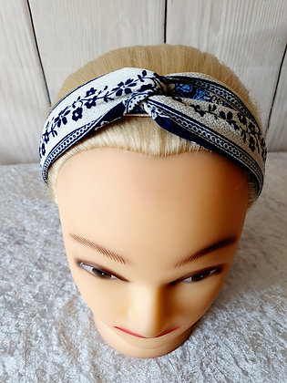 Spring Blue Elasticated Head Band