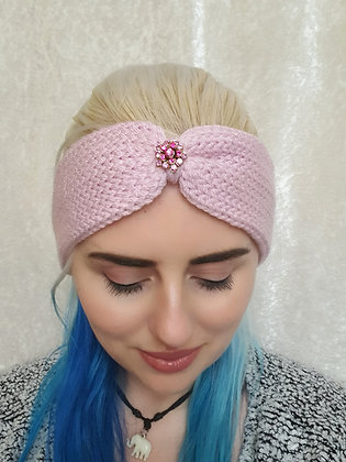 Baby Pink Knitted Ear Warmer