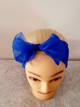 Cobalt Blue Chiffon Head Scarf