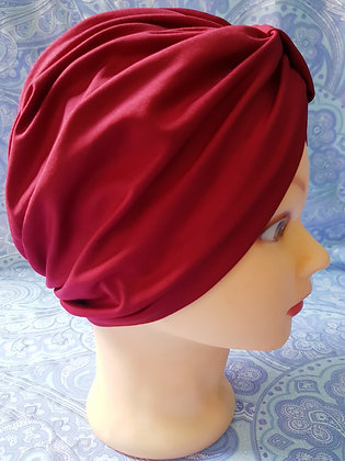 Red Chemo Cap Turban