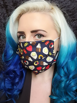 Navy Sweets Face Mask