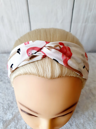White Flamingo Elasticated Head Band