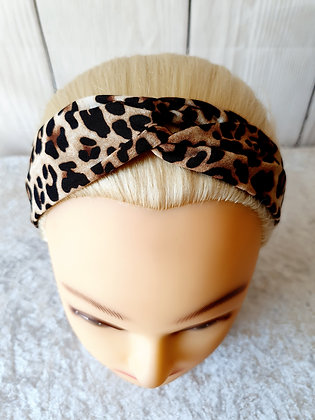 Leopard Print Elasticated Head Band