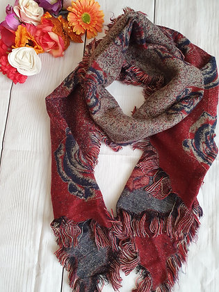 Roses Super Soft Winter Scarf