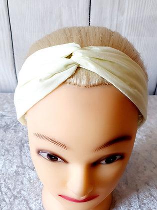 Cream Elasticated Head Band