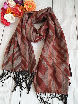 Maroon Shapes Super Soft Scarf