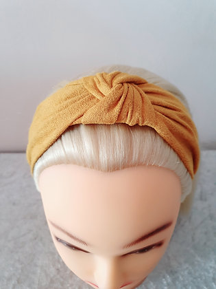 Mustard Suede Head Band