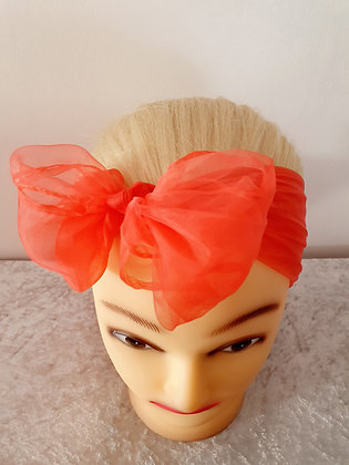 Red Chiffon Head Scarf