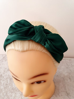 Green Wire Bow Head Band