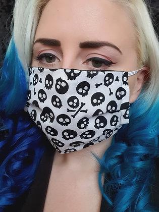 Skulls in White Face Mask