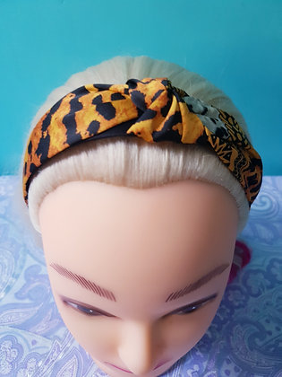 Gold Leopard Head Band