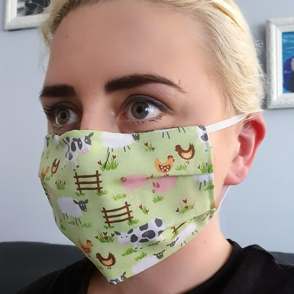 Farmyard Green Face Mask