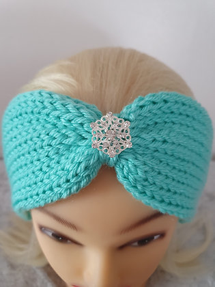 Cloud Blue Knitted Head Band