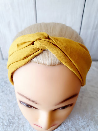 Mustard Elasticated Head Band
