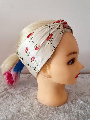 Cherry Blossom Silk Head Scarf
