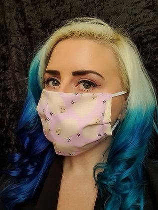 Pink Sheep Face Mask