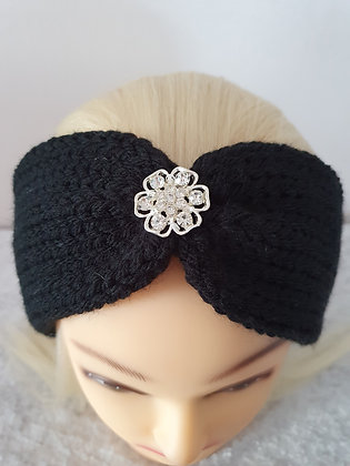 Black Knitted Head Band