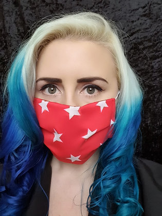 Red Stars Face Mask