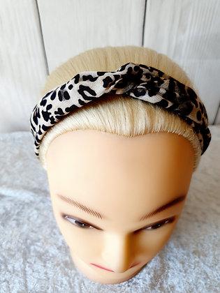 Darker Leopard Print Elasticated Head Band