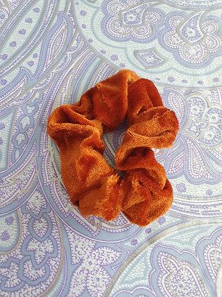 Hand Made Scrunchie - Gold Orange