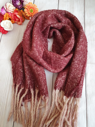 Super Soft and Thick Maroon Winter Scarf