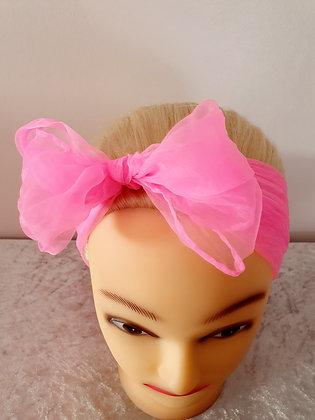 Neon Pink Chiffon Head Scarf