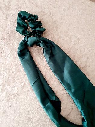 Long Tail Scrunchie Emerald