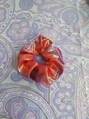 Hand Made Scrunchie - Orangey Pink Mermaid