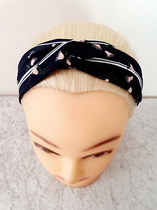 Stripe Floral Elasticated Head Band