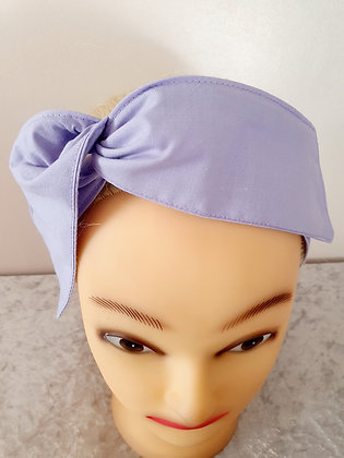 Plain Light Purple Wired Hair Tie