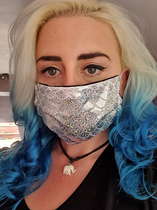Silver Mermaid Face Mask