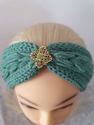 Sage Pleat Knitted Head Band