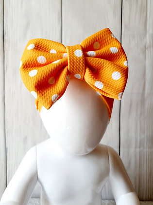 Orange Polka Head Wrap