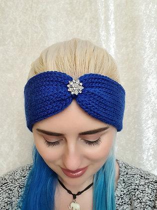 Cobalt Blue Knitted Head Band